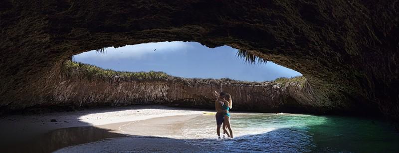 Hidden Beach at Marietas Islands in Riviera Nayarit