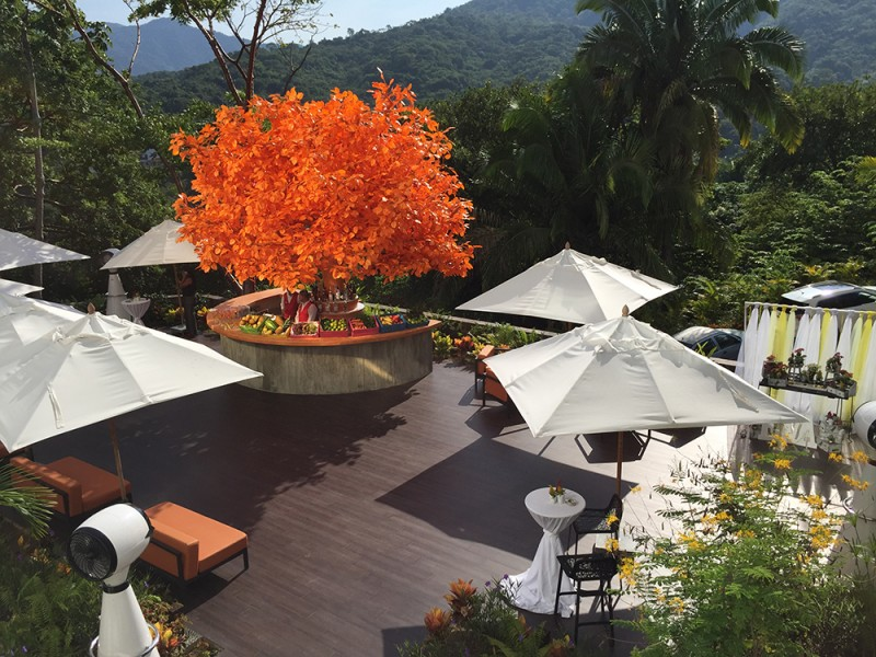 The Orange Deck at Hotel Mousai Puerto Vallarta