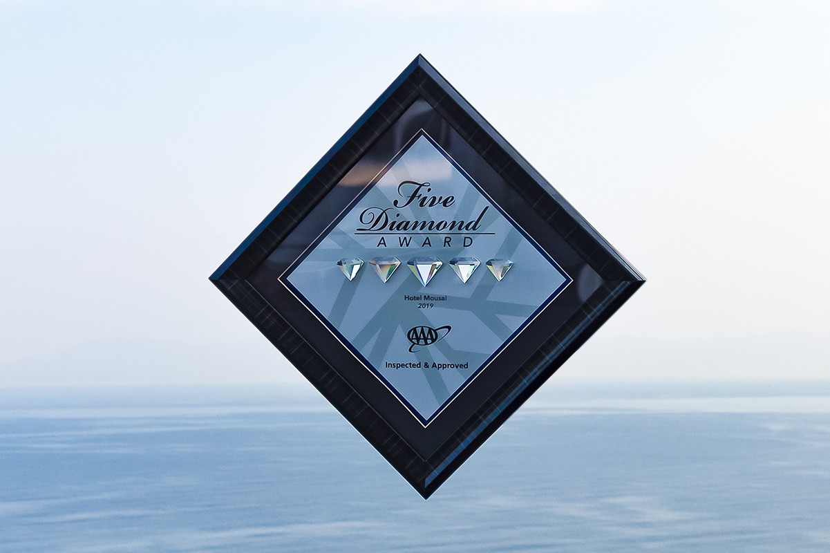 Hotel Mousai Receives Five Diamond Award for the 5th Year in a Row