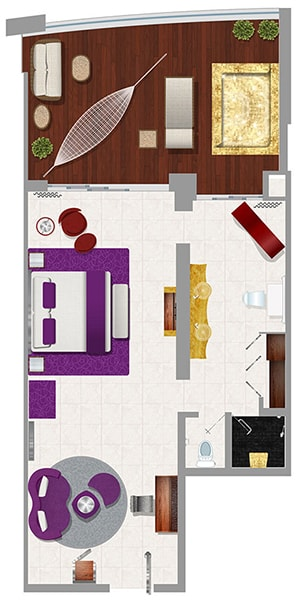 Mousai Suite Floor plan